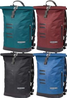 Ortlieb Commuter Day Pack City 21 Litre - Waterproof city backpack made of lightweight durable nylon fabric